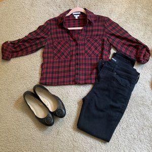 Express Plaid Button-Up Portofino Shirt